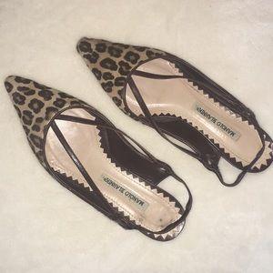 Manolo Blahnik Pony Hair Brown Leopard Flats